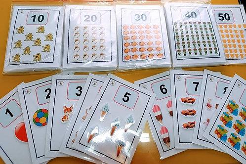 Cartazes das Quantidades 1 A 50