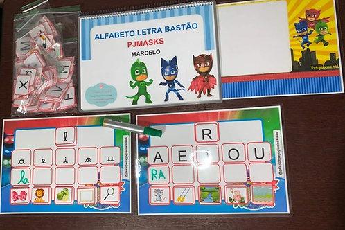 Alfabeto Letra Bastão - PJMASKS