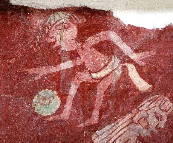 Ballplayer painting from the Tepantitla murals
