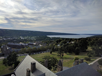 View from Cornell clock tower