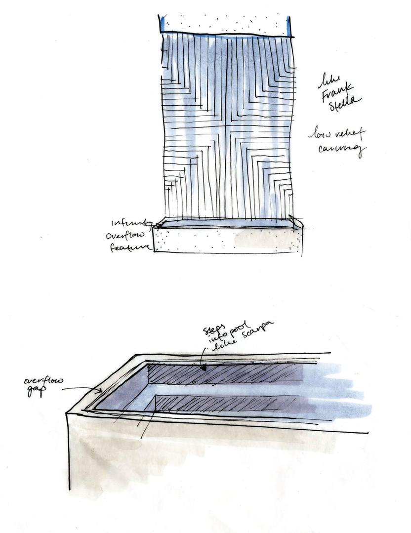 Entry Fountain Sketch