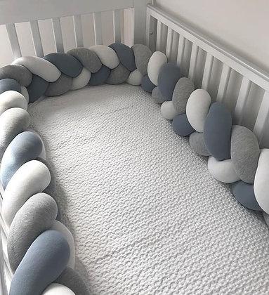 Protetor de para-choques infantil berço almofada