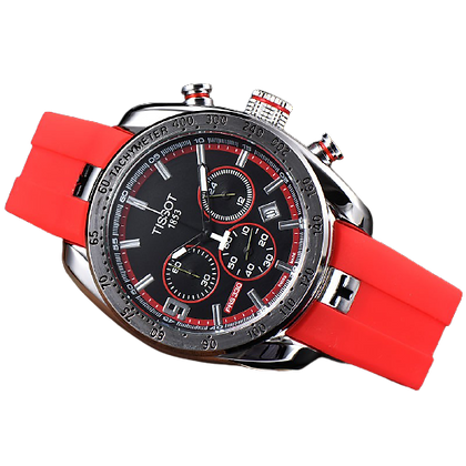 Tissot PRS 330 (vermelho/prata)