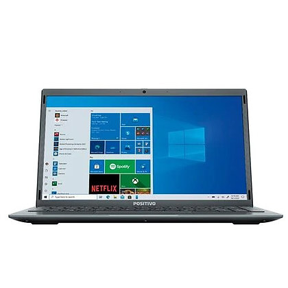 "Notebook Positivo Intel Atom Quad Core 4GB 128GB eMMC Tela 14"" Windows 10"
