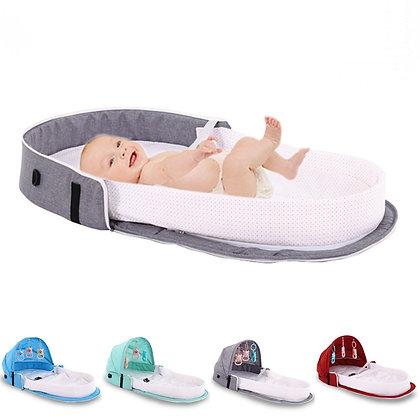 Berço portátil para viagem com mosquiteiro para bebê
