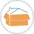 Diplodash logo; orange box with blue/green outlined house roof.