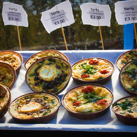 Delicious quiches & tarts
