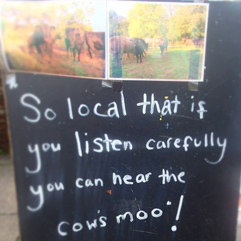 So local you can hear the cows moo...
