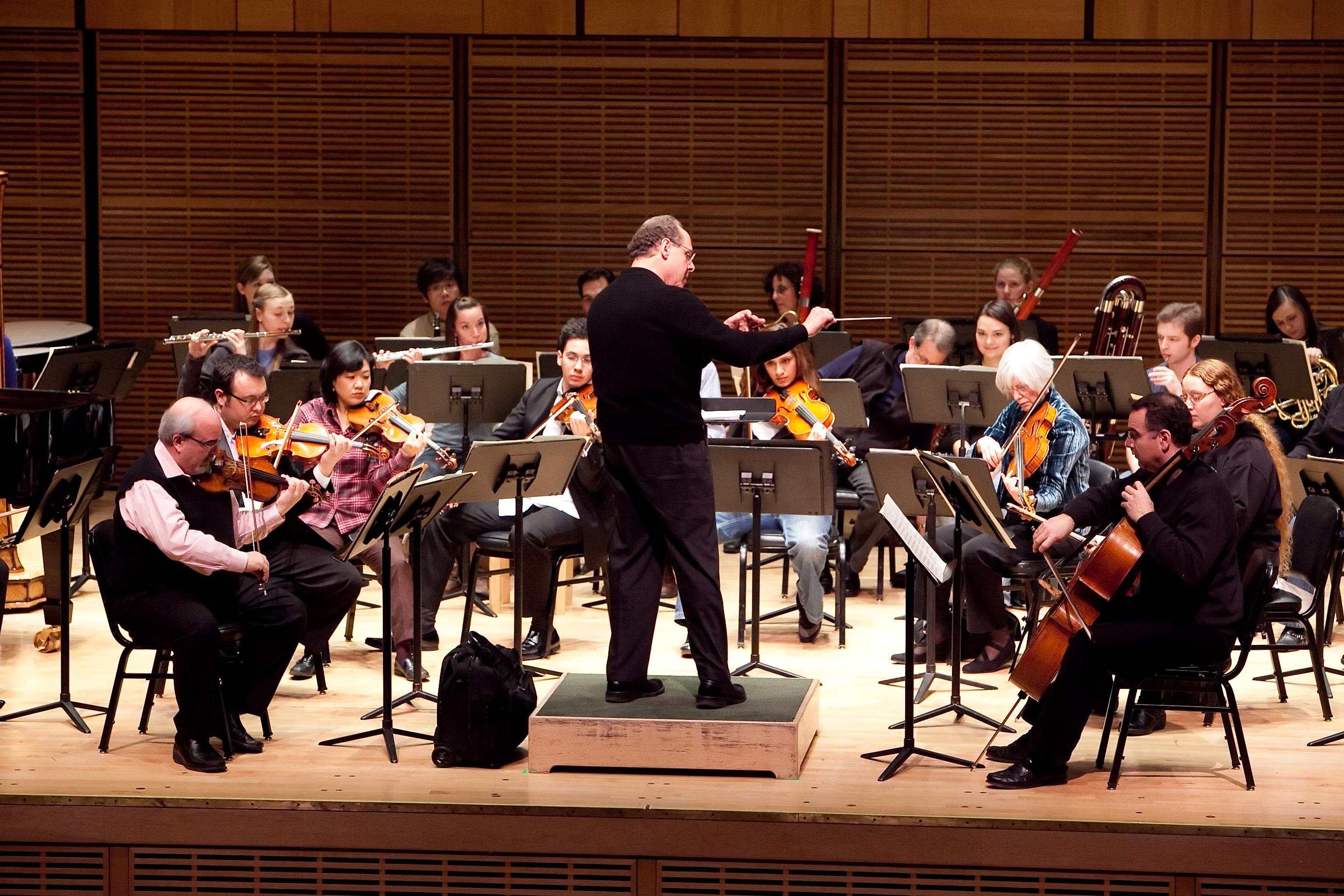 Kiesler rehearsing in Zankel Hall