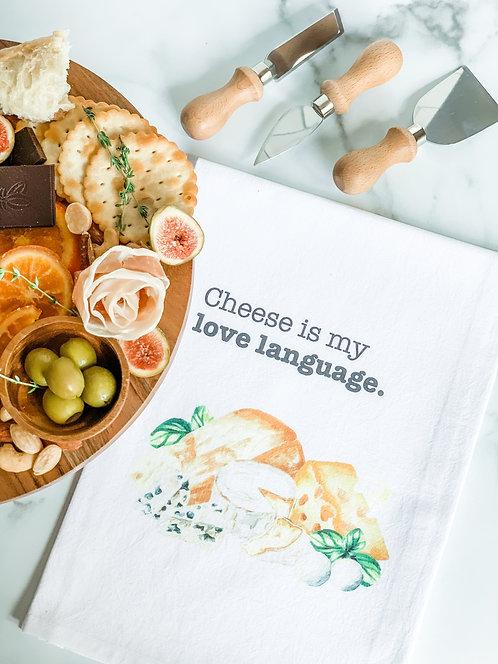 Cheese Is My Love Language - Tea Towel
