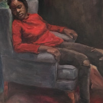 The girl with red sweater
