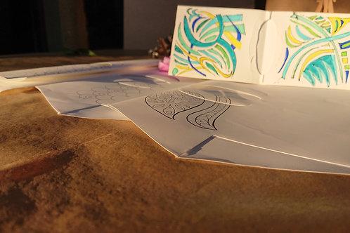 Art Kit 5 Me vinculo coloreando