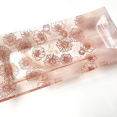 Vermont Wildflowers on Rectangle Tray, 2020