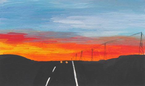 Sunset on Rt.3, 2013