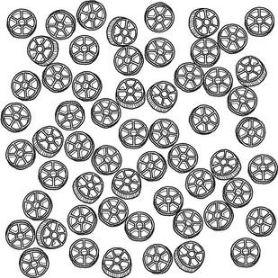 Pasta Pattern: Rotelli (Wagon Wheels), 2019