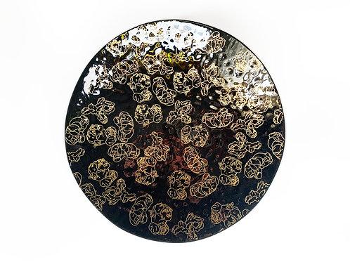 Golden Popcorn Round Bowl