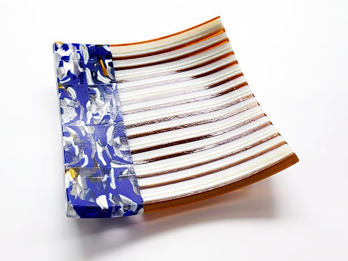 Striped and Pattern Bar Square Plate