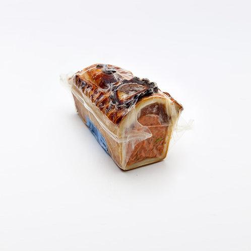 Rotlachs - Pastete. Preis pro 100g: