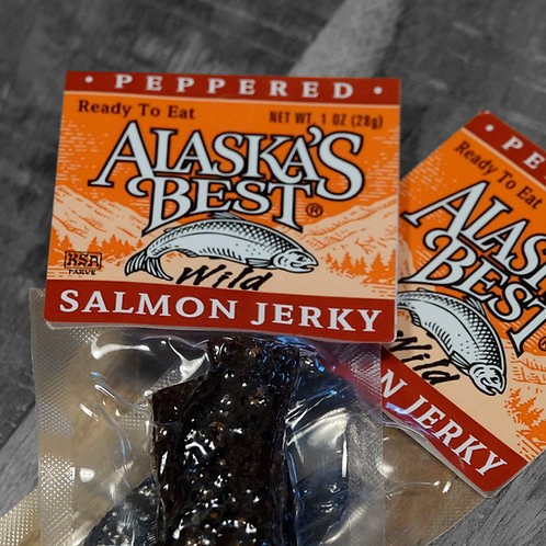 Salmon Jerky, peppered
