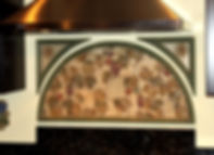 Custom backsplash mural over stove