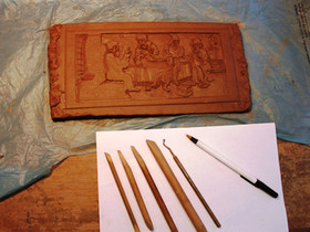 So how are the tiles made?...STEP 2