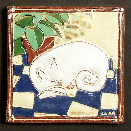 SLEEPING CAT 6X6