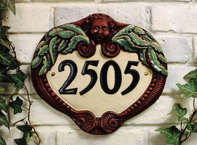 Custom ceramic tile house number