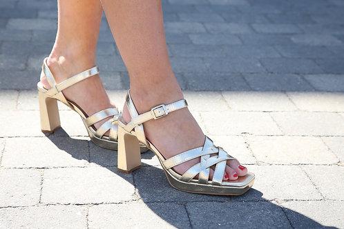 VW Sandals High Heel Gold
