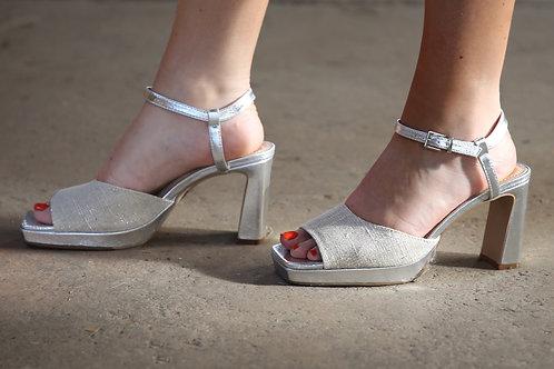 VW Sandals High Heel Silver