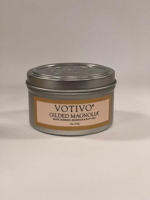 Votivo - Gilded Magnolia Travel Tin