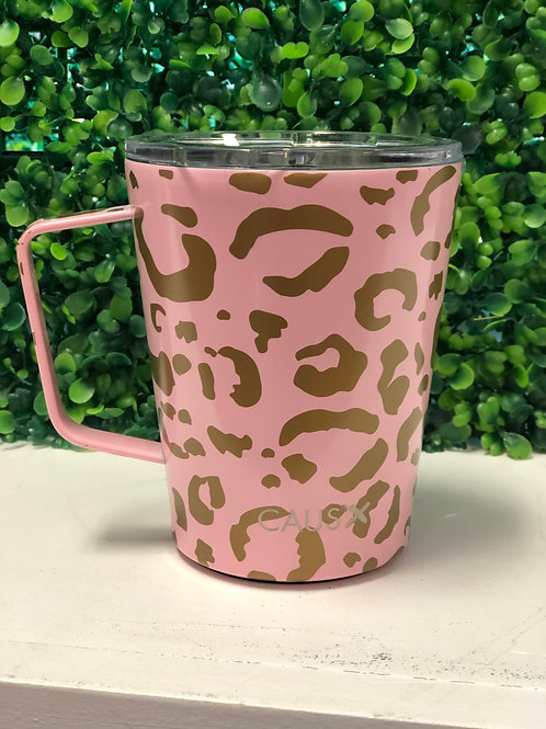 Caus Leopard Insulated Stainless Coffee Mug