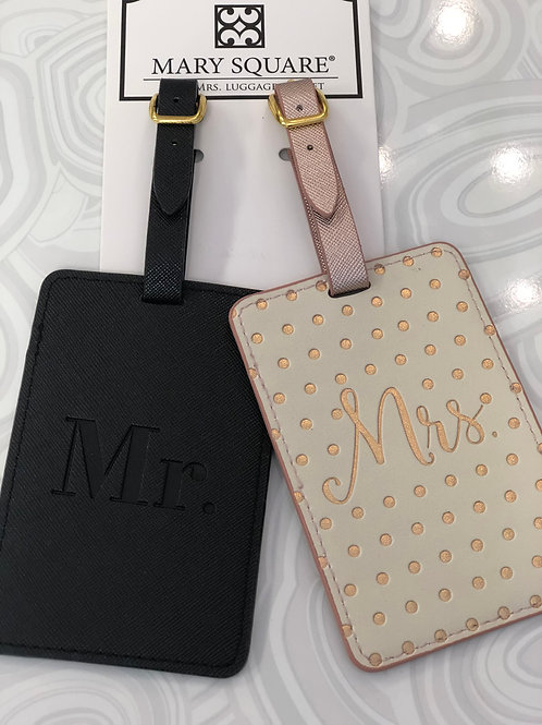 Mr & Mrs Luggage Tags Set