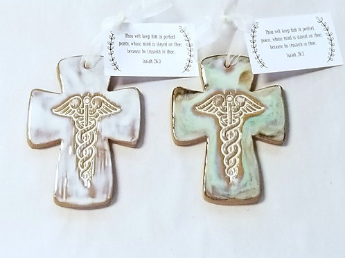 Medical Hero Cross - Tab Boren Pottery Limited Edition