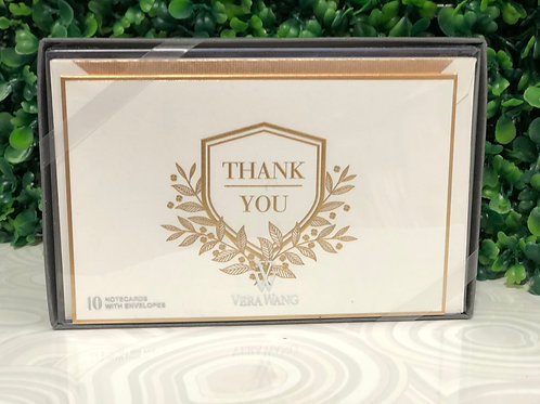 Notecards - Engraved Shield Thank You