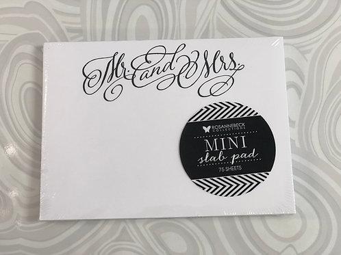 Mr & Mrs Mini-Slab Notepad