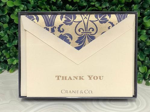 "Notecards - ""Regency Thank You"""