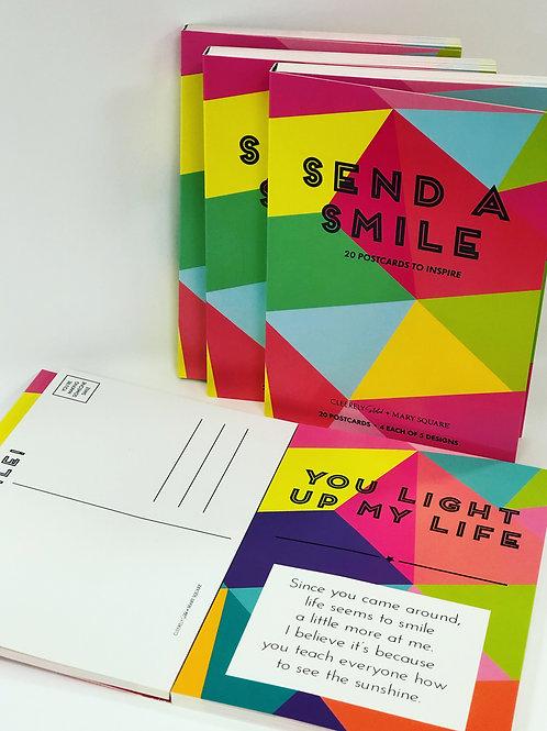 "Mary Square ""Send a Smile"" Postcard Book"
