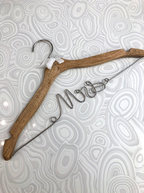 """Mrs."" Wedding Hanger"
