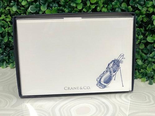 Notecards - Navy Golf Bag