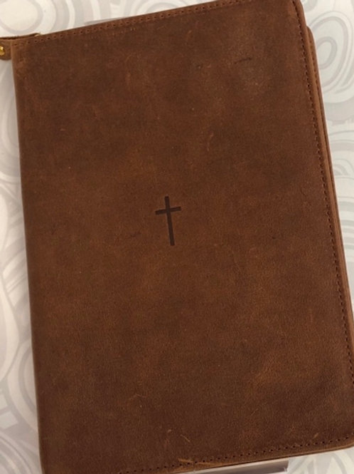 Leather Bible Study Kit with Notepad