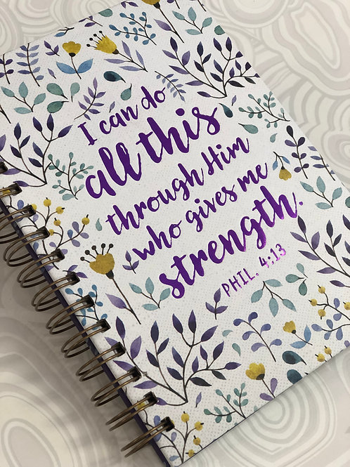 I Can Do All Things Spiral Journal