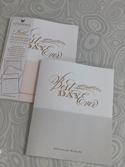 Best Day Ever Wedding Planner Notebook