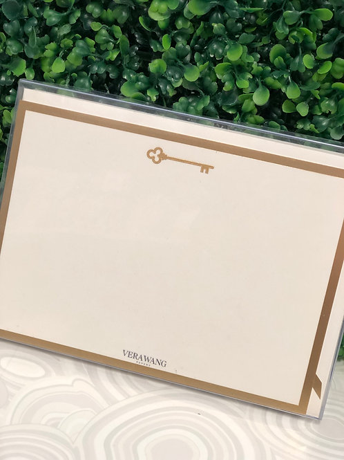 Notecards - Crane Engraved Gold Key