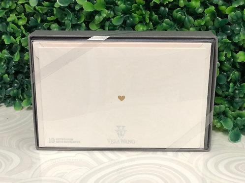 Notecards - Tiny Heart by Vera Wang