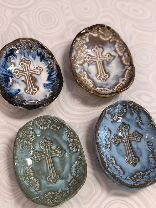 Tab Boren Cross Elongated Trinket Bowl