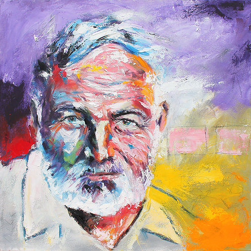 Earnest Hemingway 20x20