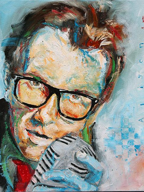 Elvis Costello Print. 12 x 16