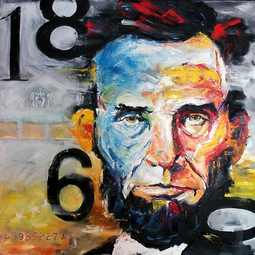 14 x 14 Abraham Lincoln Giclee Print