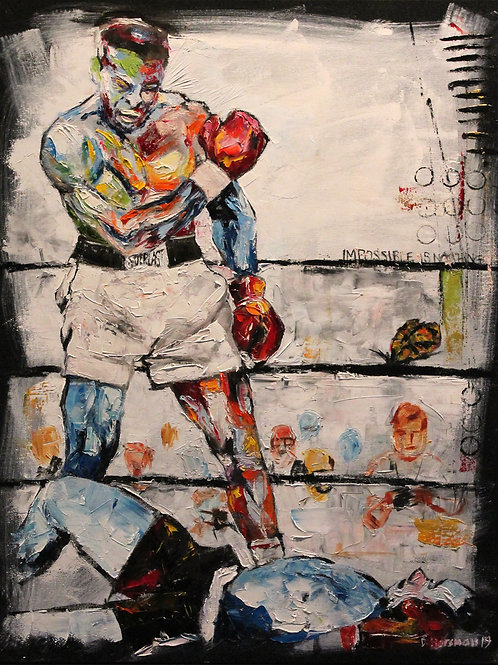 Muhammed Ali v Sonny Liston. 24 x 30