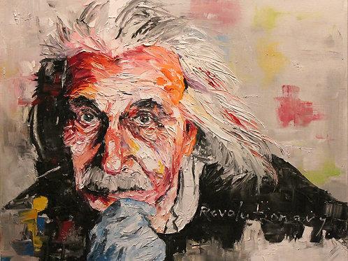 Albert Einstein. 24 x 30